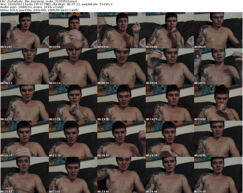 Download Or Stream File: chaturbate the bossman 31 October 2016